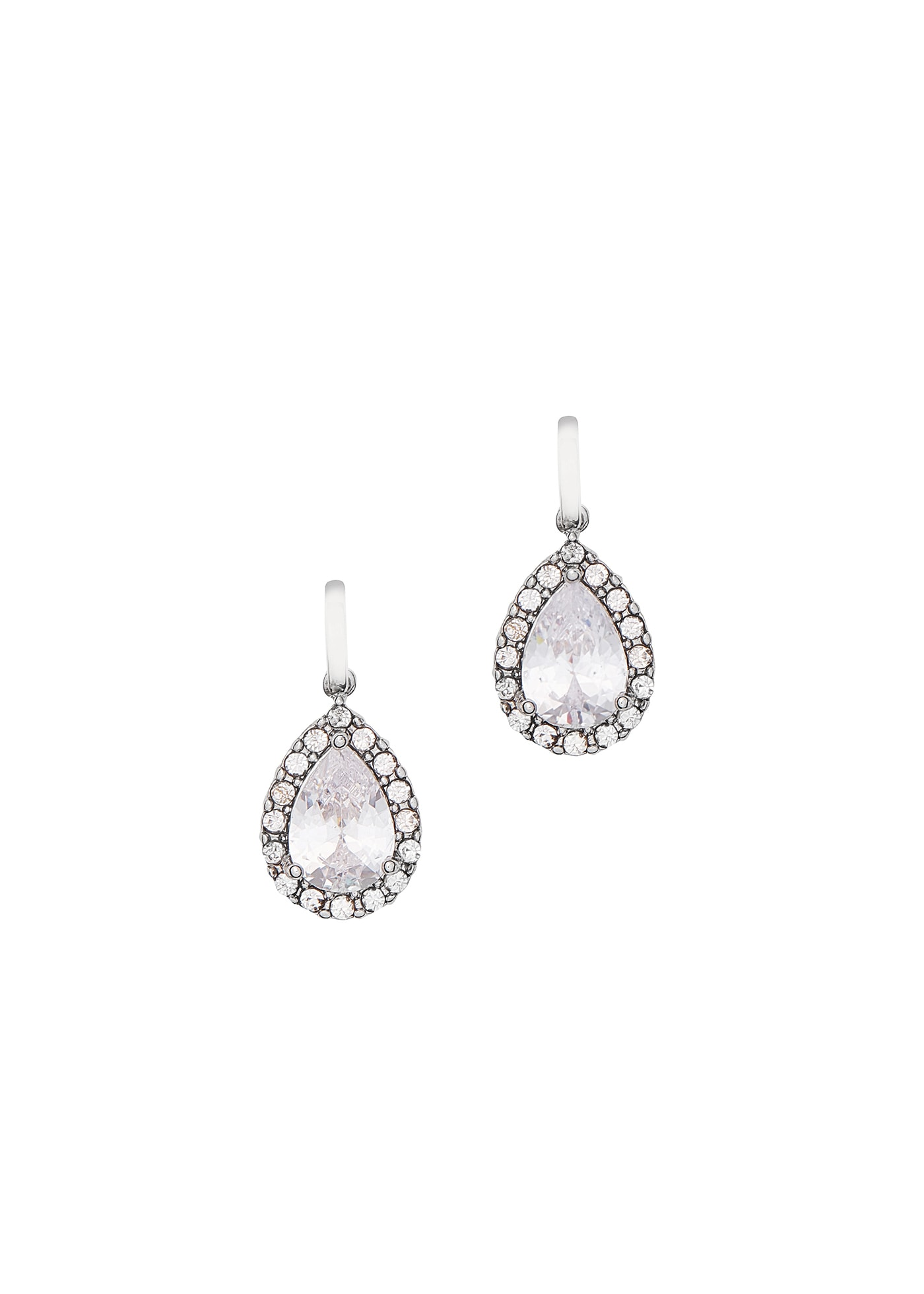 J000536 Cubic Zirconia Teardrop Earrings